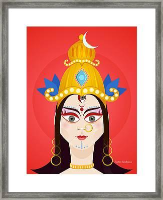 Goddess Maa Durga Framed Print by Sachin Sachdeva