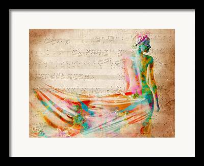 Mozart Framed Prints