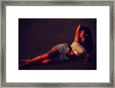 Goddess Of Night. Seduction Series Framed Print