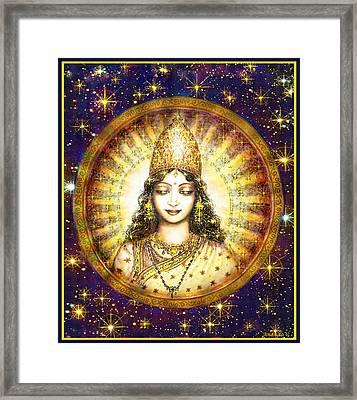 Goddess Of Stars Framed Print by Ananda Vdovic