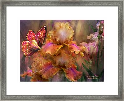 Goddess Of Sunrise Framed Print by Carol Cavalaris