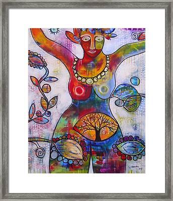 Goddess Of Truth Framed Print by Shannon Crandall
