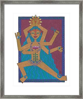 Goddess Of Well-being Framed Print
