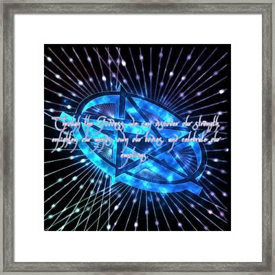 Goddess Prayer Framed Print