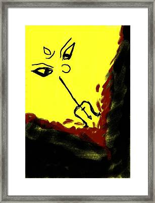 Goddess Framed Print by Raj Ritwik Mitra