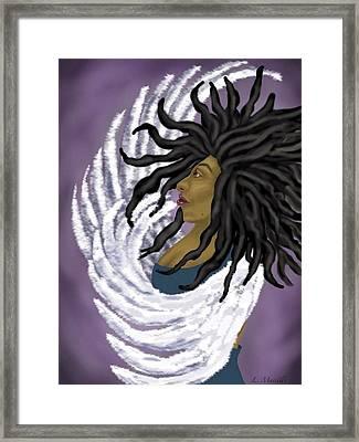 Goddess Rising Framed Print by Linda Marcille