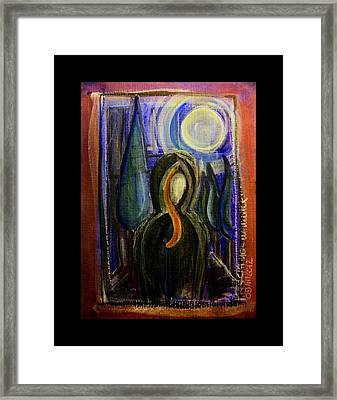 Goddess Under The Cypress Moon Framed Print by Mimulux patricia no No