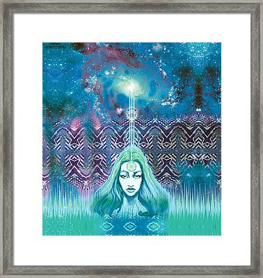 Godess Wisdom Framed Print by Thomas Ambrose DENNEY