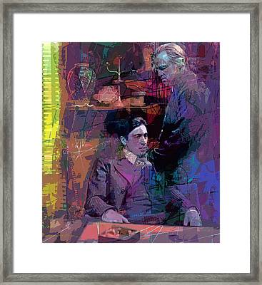 Godfather And Son Framed Print by David Lloyd Glover