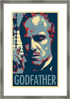 Godfather In Hope Framed Print by Rob Hans