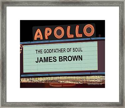 Godfather Of Soul Framed Print by Michael Lovell