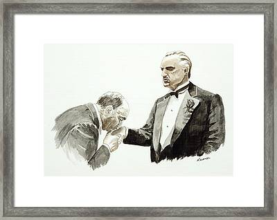 Godfather Framed Print by Timothy Ramos