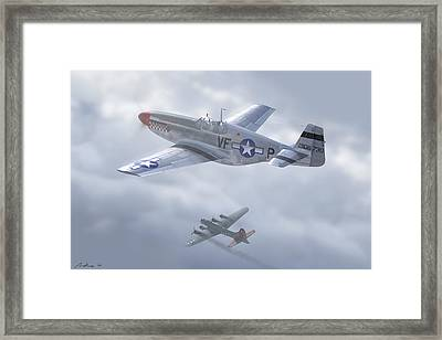 Godfrey Between The Clouds Framed Print by Hangar B Productions