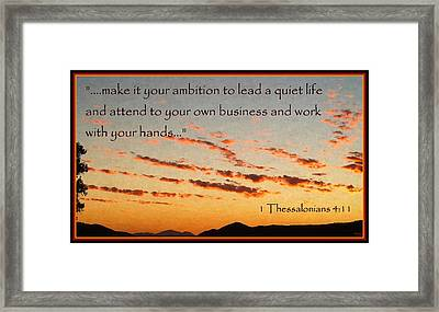 Godly Ambition Framed Print by Glenn McCarthy Art and Photography
