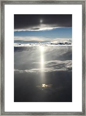 Godrays Over The Lake Framed Print