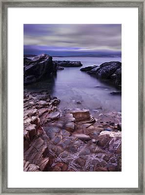 Godrevy Rocks 2 Framed Print by Debra Jayne