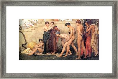 Gods At Play Framed Print by William Blake Richmond
