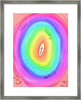 God's Colours Framed Print by Michael Jordan