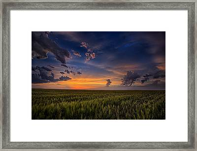 God's Country Framed Print by Thomas Zimmerman