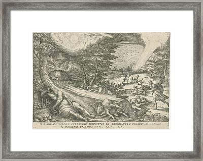 Gods Covenant With Abraham, Print Maker Symon Novelanus Framed Print by Symon Novelanus And Johann Bussemacher