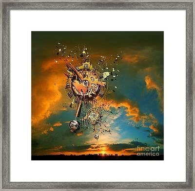 God's Dusk Framed Print by Franziskus Pfleghart