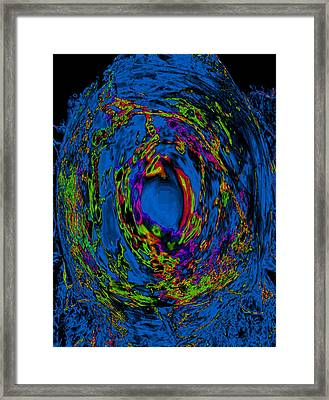 God's Fingerprint - Aquamarine Framed Print by Colleen Cannon