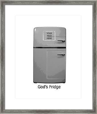 God's Fridge Framed Print by Stephanie Grooms