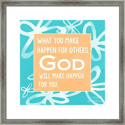 God's Gift - Blue Framed Print