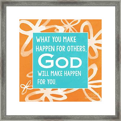God's Gift Framed Print by Linda Woods