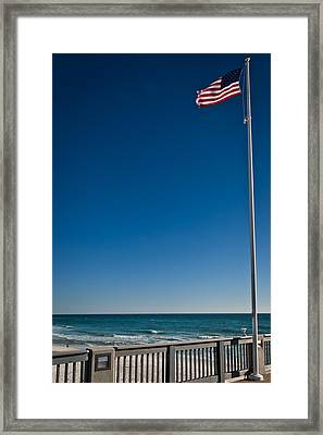 Gods Glory And Old Glory Framed Print