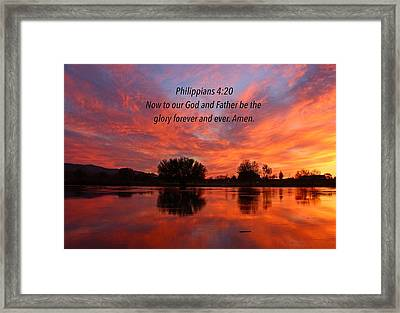 God's Glory Framed Print by Lynn Hopwood