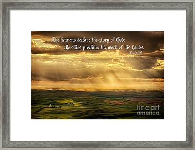 God's Hands At Work Framed Print by Priscilla Burgers