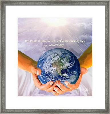 Gods Hands Framed Print by The Kepharts