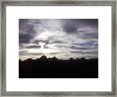 God's Light Framed Print by Amy Drago