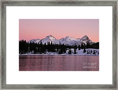 God's Light Painting At Molas Lake Framed Print