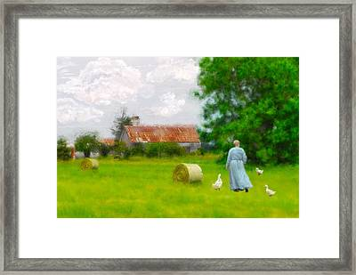 God's Little Acre Framed Print by Mary Timman