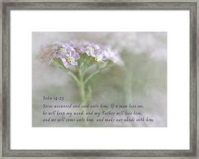God's Love Framed Print by David and Carol Kelly