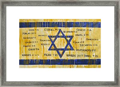 Gods Love For Israel Framed Print by Anthony Falbo