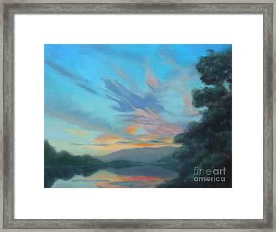God's Morning Framed Print by Karen Burkland