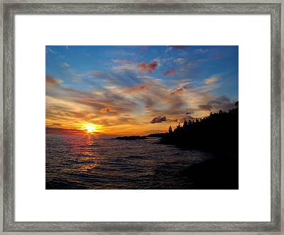 Framed Print featuring the photograph God's Morning Painting by Bonfire Photography