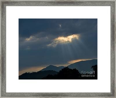 Gods Morning Rays Framed Print by Eva Thomas