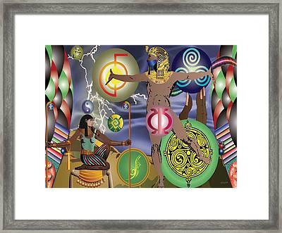 Gods Of Energy Framed Print