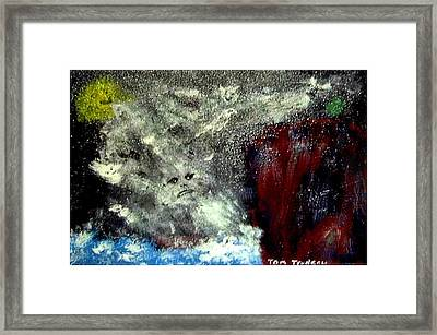 Gods Of The Grecian Storm Framed Print by Tommi Trudeau