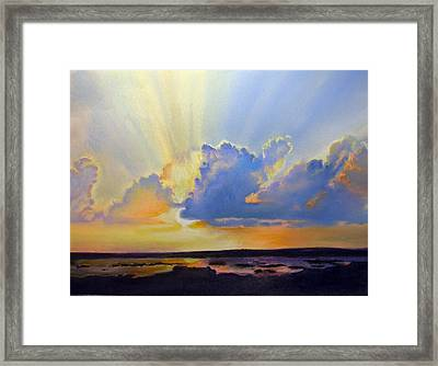 God's Paint Brush Framed Print