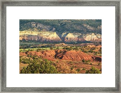 God's Palette Abiquiu Ghost Ranch New Mexico Framed Print