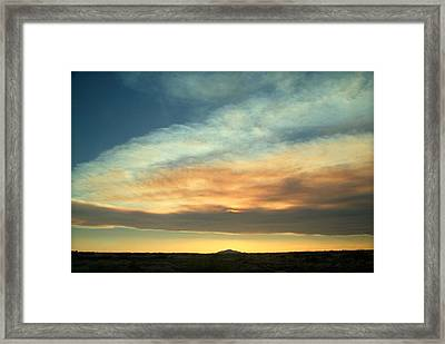 God's Pastels.. Framed Print