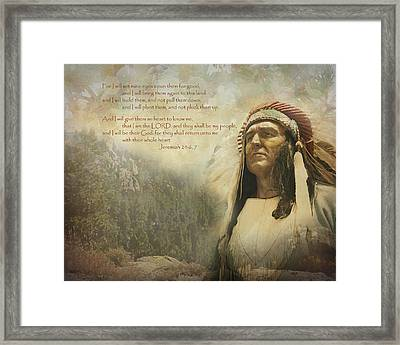 God's Promise Framed Print by Terry Eve Tanner