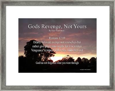 Gods Revenge Framed Print