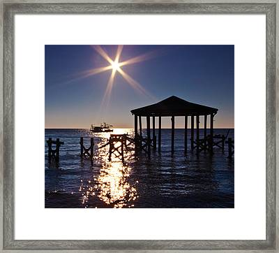 God's Sun Flower At Sea Framed Print