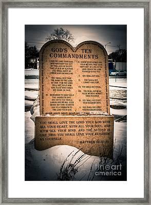 God's Ten Commandments Framed Print